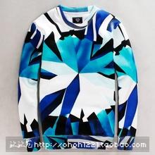 New fashion autumn casual men s clothing lovers diamond print hoodies long sleeve skateboard hip