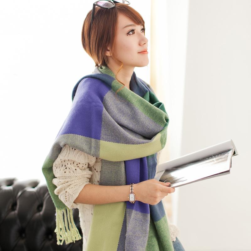Women s Winter Stole Plaid Scarves Tippet Wraps Brand Ladies Scarf Women Classic Neckerchief 200 62cm
