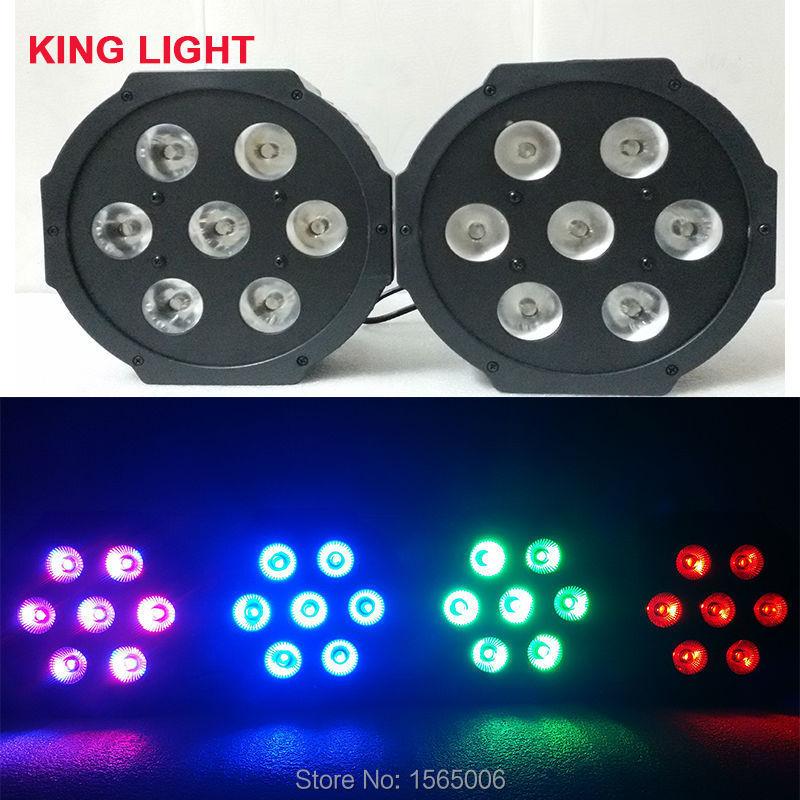 Fast Shipping Black LED Par Can 64 LED Par64 LED Tri 7 RGB 7x9W 12pcs/lot(China (Mainland))