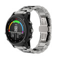 Titanium Steel Silver Black Bracelet Wrist Strap Smart Watch Band For Garmin Fenix 3 HR Mesh