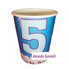 6PCS No.5 Years Older Five Cartoon Paper Cups Kid Boy Girl Baby Happy Birthday Party Favors Decoration Celebration Gift Supplies(China (Mainland))