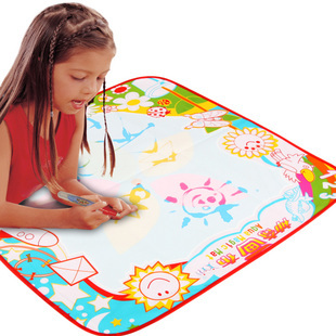 Ultralarge kid magic water painting canvas kiddo 5-color child free air mail
