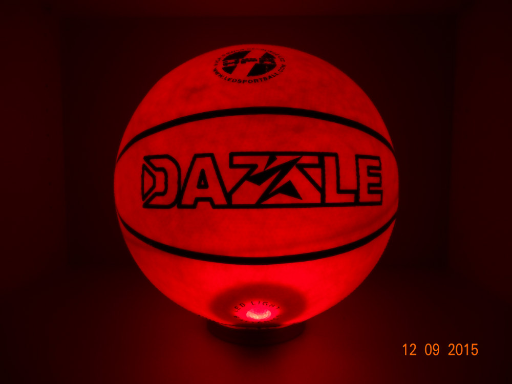 Basketball light up in dark basketball boy's gift festival gift LED item and cheaper needle(China (Mainland))