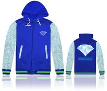 diamond company design brand new fashion blue hooded diamond jacket men winter outdoor sport suit coats jackets online wholesale(China (Mainland))