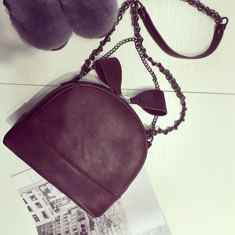 The new winter South Korea bow pull chain bag adorable fun Shoulder Bag Messenger Bag fashion female bag(China (Mainland))