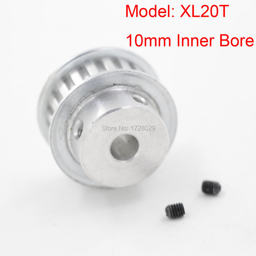 Free Shipping XL 20 Teeth 10mm Aluminum Timing Belt Pulley Bore for Automotive Textile Printing(China (Mainland))
