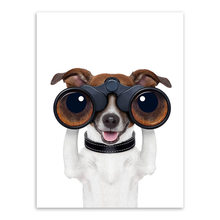Kawaii Hippie Animal Cosplay Dog Pet Poster Nordic Living Room Wall Art Print Picture Home Deco Canvas Painting No Frame(China)