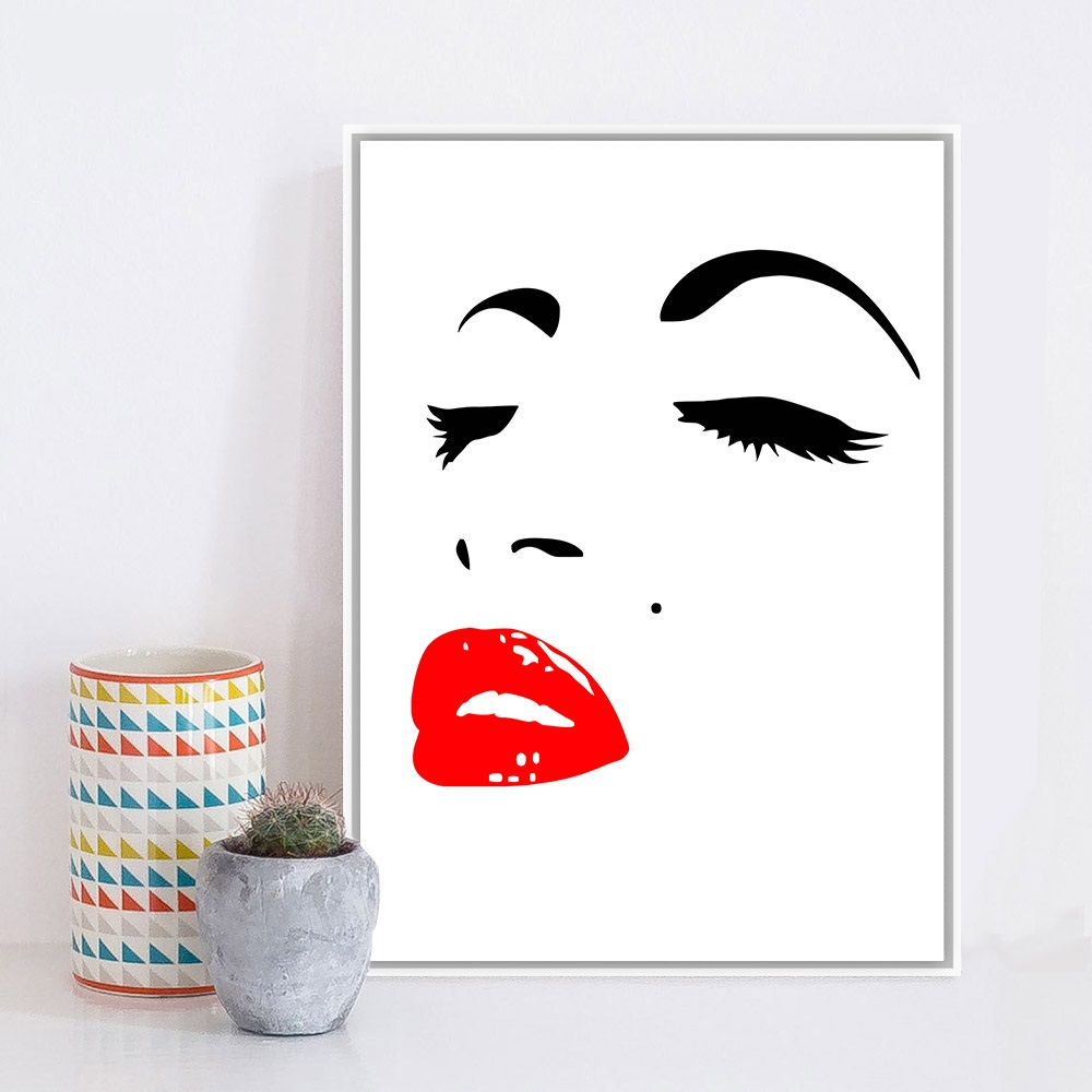 Marilyn monroe rouge promotion achetez des marilyn monroe for Minimalisme art