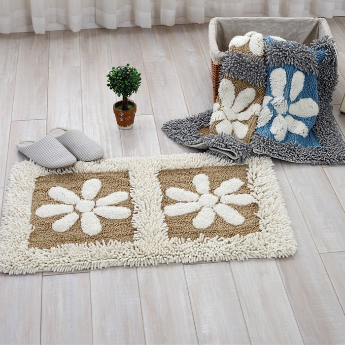 AuBergewohnlich Cotton Chenille Shaggy Rug Handmade Soft Doormat Kids Children Rug Floral  Home Decorative Kitchen Bathroom Living Room Bed Room   Us828