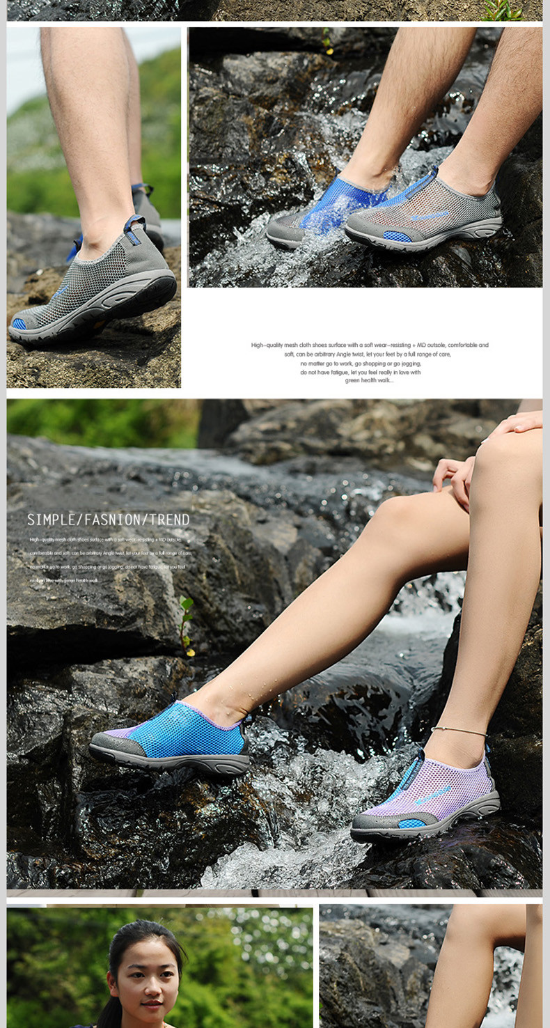 XIANGGUAN Woman Beach Aqua Shoes Women Lycra Trainers Purple Summer Water Sports Boating Wading Shoe Outdoor Walking Sneakers