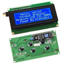IIC/I2C/TWI 2004 Serial Blue Backlight LCD Module for Arduino UNO R3 MEGA2560 20 X 4 2004(China (Mainland))