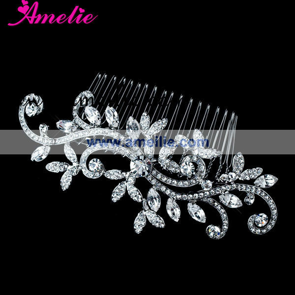 Free shipping Rhinestone and crystal bridal accessories Vintage style bridal hair comb