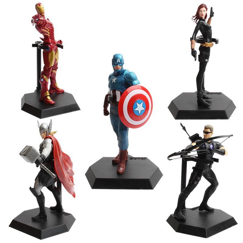 2016 New Avengers Boys Model Toys 19CM Super Aero Action Figure iron Man Batman Captain America Children's Toys Collection Gifts(China (Mainland))