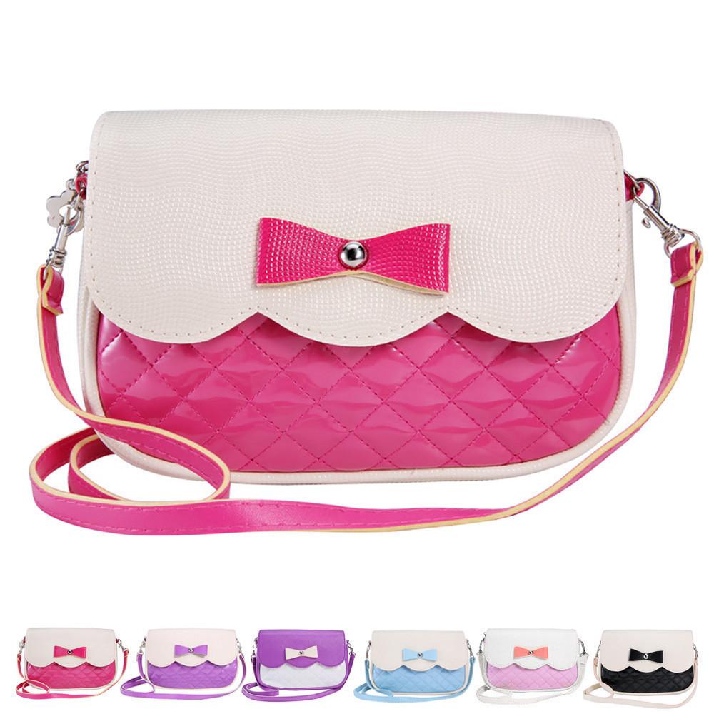 Symbol Der Marke 2018 Neue Mädchen Handtaschen Schöne Bowknot Kinder Mädchen Schulter Crossbody Taschen Berühmte Designer Mädchen Messenger Chian Taschen Kinder- & Babytaschen
