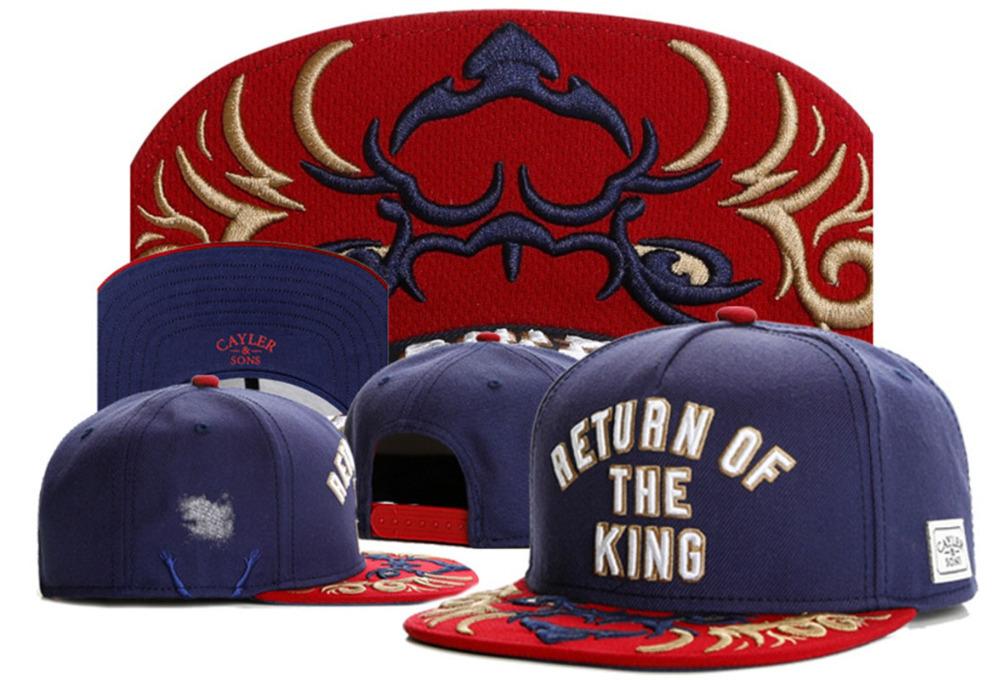 New arrival Cayler Sons snapback hats for women /men summer cotton swag RETURN OF THE KING baseball caps brand hip hop cap bone(China (Mainland))
