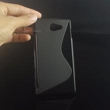 Buy TPU Soft Gel S-Line Wave Anti-skid Rubber Matte Cover Case Skin Sony Xperia M2 S50h / M2 Dual D2302 / Xperia M2 Aqua D2403 for $1.51 in AliExpress store