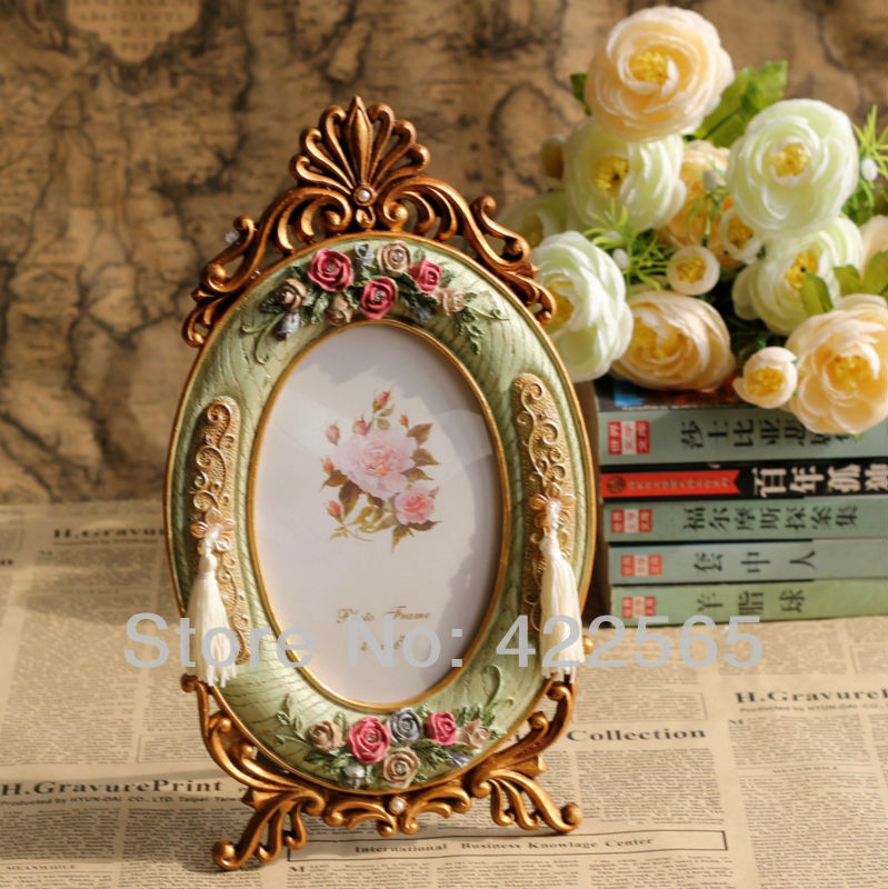 Oval Shape European Retro Style Resin Photo Frame Picture Frame Wedding Gift Hot Selling! ,#11009(China (Mainland))