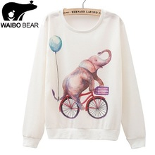 Wholesale Women Hoodies Cute Cat Printed Sweatshirts Casual Thin Pullovers For Female Sudaderas Sport Suits(China (Mainland))