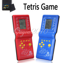 Hot Sale Newest Childhood Classic Tetris Hand Held LCD Electronic Game Toys Fun Brick Game Riddle Educational Toys(China (Mainland))