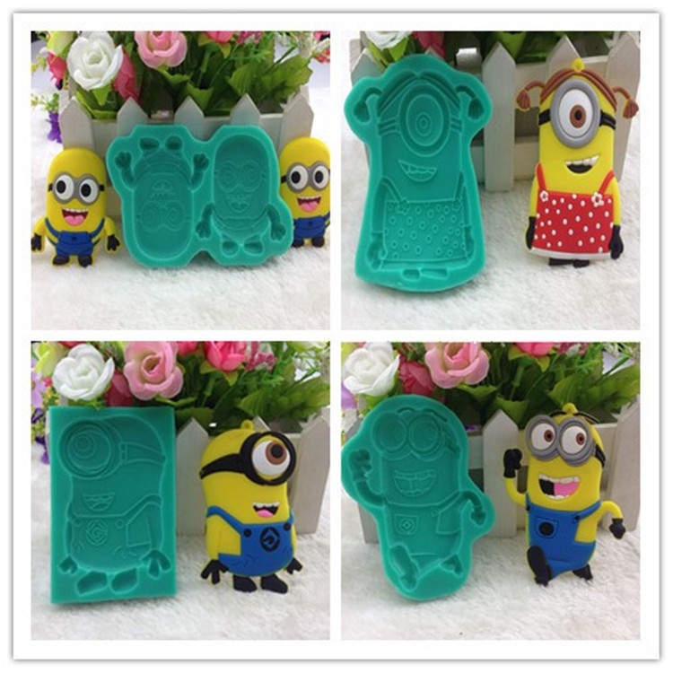 4Pcs/set Lovely Minions Despicable Me Chocolate Molds ...