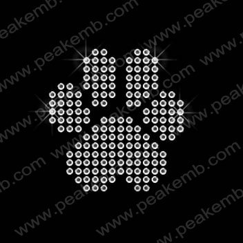Wholesale Bling Little Paw Print Crystal Rhinestone Transfer 50pcs/Lot DHL Free Shipping
