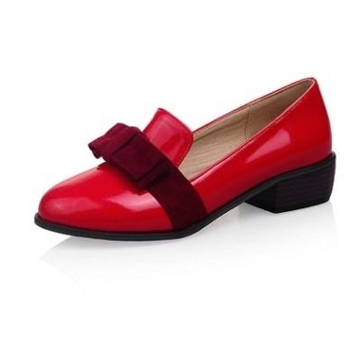 Новое поступление мелкая рот Slip on женщинам-бездельников мода с бантом острым носом на низком каблуке оксфорды размер 34 - 43 женщин плоские туфли