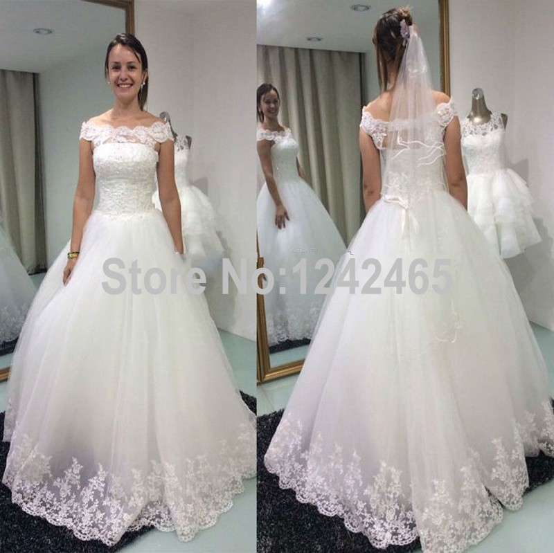 Buy ball gown off shoulder wedding dress for Wedding dresses off shoulder