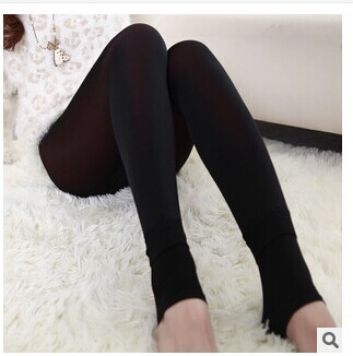 winter Polyamide lottery warm trousers velvet thickening trample feet pants lady leggings - aoao88 store