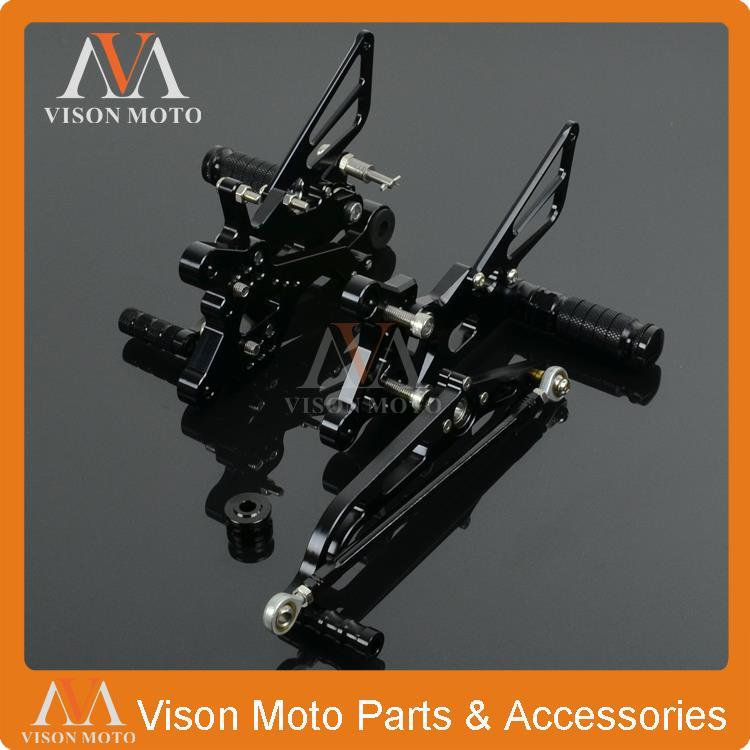 CNC Adjustable Rearsets Foot Pegs Rear Sets Yamaha YZF R6 2006 2007 2008 2009 2010 2011 2012 2013 2014 Racing Motorcycle - VM parts store