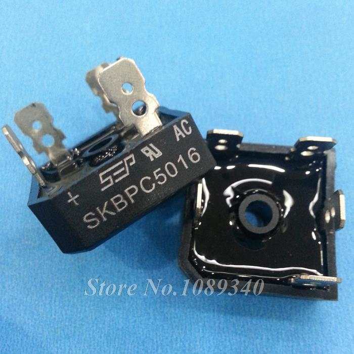 10PCS free shipping SKBPC5016 three phase bridge rectifier 50A 1600V copper foot plastic shell 100% new original(China (Mainland))