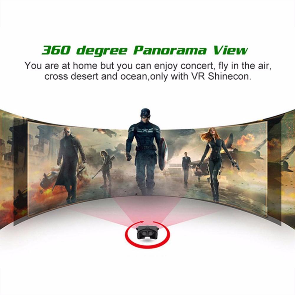 - HTB1QHAKOpXXXXaXXXXXq6xXFXXX7 - VR Box Shinecon 1 VRBOX Casque Video 3D Gerceklik Google Cardboard Virtual Reality Goggles 3D Glasses Headset Smartphone Helmet