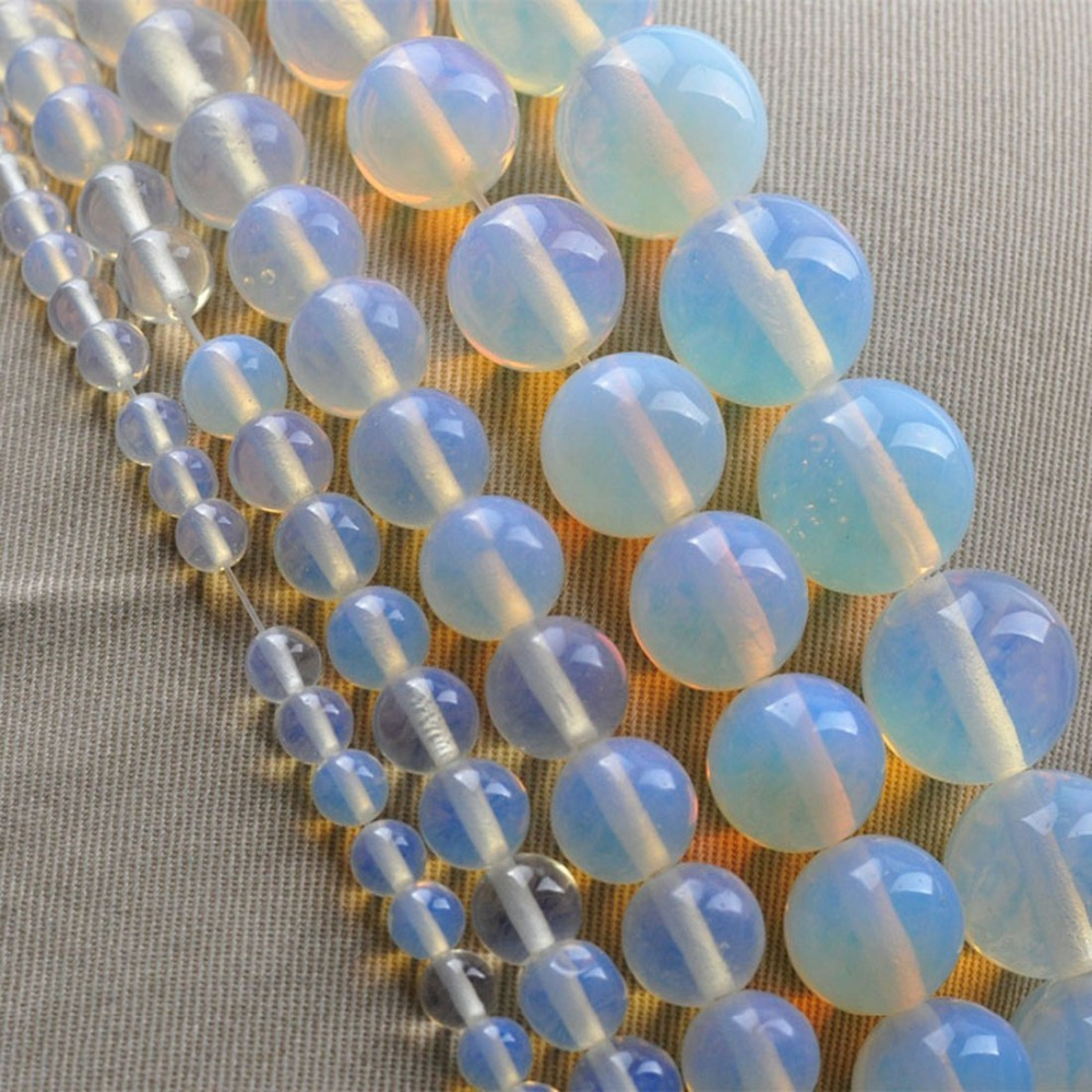 New Arrival DIY Round Moonstone Natural Stone Bead Jewelry Accessories For Necklace/Bracelet 4mm 6mm 8mm 10mm 12mm Free Shipping(China (Mainland))