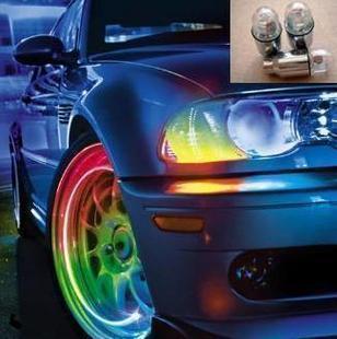 Hot selling 4pcs/lot free shipping wholesale led flashing car light cool wheel lamp colorful tire lighting for k2 k3 k5 focus(China (Mainland))