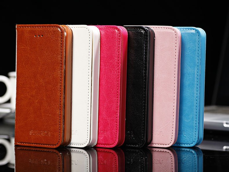 New colorful classic Mobilephone bags smooth PU Leather Materia Case for iphone5 5S 5G Cover for iphone5(China (Mainland))