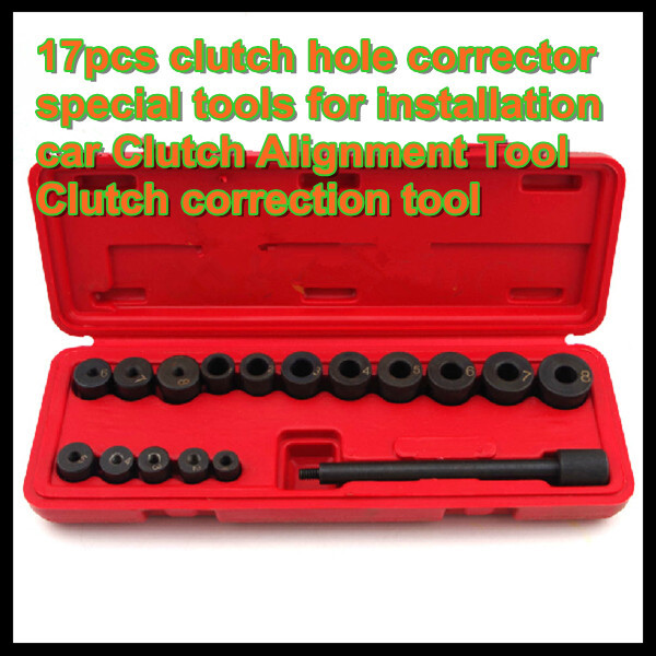 Free shipping 17pcs clutch hole corrector special tools for installation car Clutch Alignment Tool Clutch correction tool(China (Mainland))