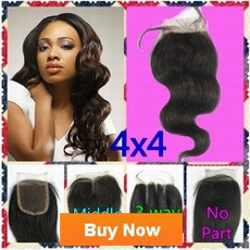 Brazilian Hair Peruvian Hair 3 way part middle part free part No part silk closure hair peices Queen hair products new star Seven days beauty Body wave Lace Closure Human Hair Closure Top Closure Bleached Knots-1(1)