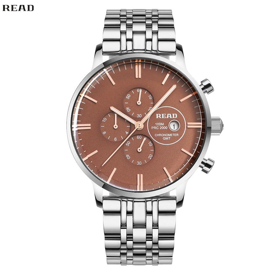 READ Crystal Mechanical Men Watch Luxury Top Brand Businessmen Stainless Steel Quartz Watches Mirror Finish Dial R7006-104<br><br>Aliexpress