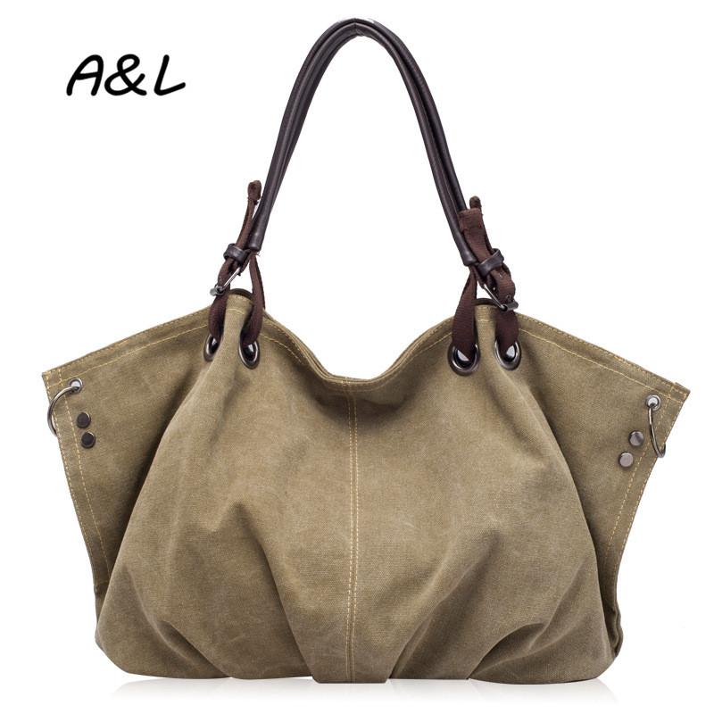 Vintage Leisure Women Handbag High Quality Casual Canvas Shoulder Messenger Bag Lady Fashion Brand Designer Tote Bolsas A0098(China (Mainland))