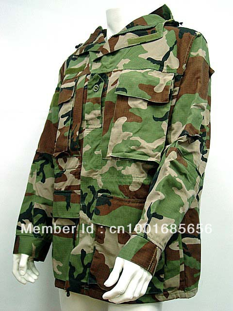 US Army Hoodie Field Jacket Coat Camo Woodland