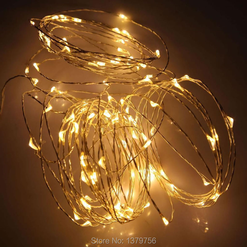 Tiny Copper String Lights : 33FT 100leds warm white micro string light waterproof copper wire led starry string light tiny ...