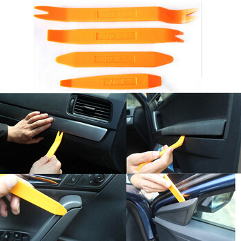 Auto Car Radio Panel Door Clip Panel Trim Dash Audio Removal Installer Pry Kit Repair Tool 4pcs Portable Practical Free Shipping(China (Mainland))