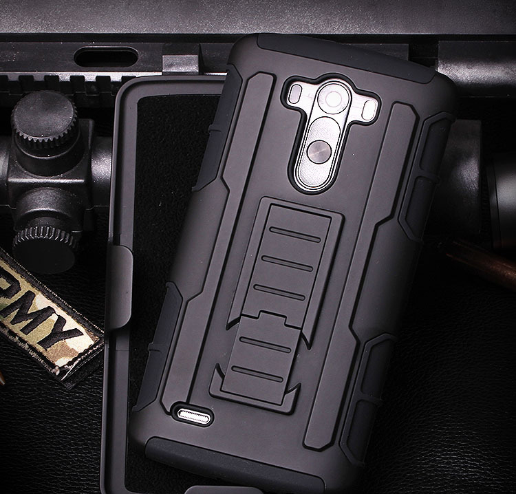 Newest Armor Impact Holster Hard Protective Case Cover For LG G4 F500 H815T H818 Cell Phone Robot Combo Case with Belt Clip(China (Mainland))