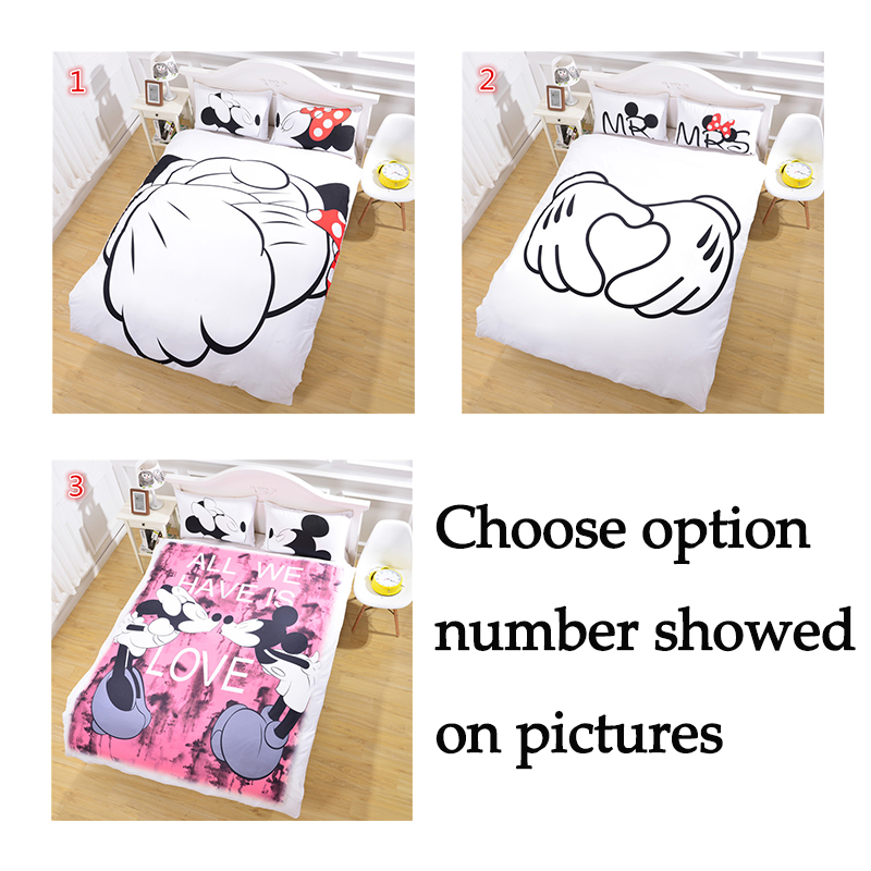 Hot Cartoon Mouse Bedding Kids Favorite Bed Cover Duvet Cover Set Twin Full Queen Size Soft Good Gift Bedclothes(China (Mainland))