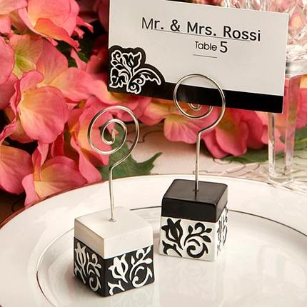 Free shipping 100 pcs/lot Wedding Gift Elegant Damask Place Card holders Party Favors(China (Mainland))
