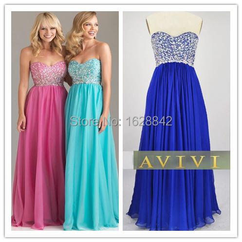 Vestidos de fiesta en rosa azul