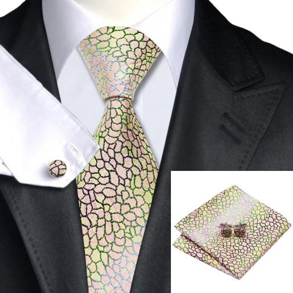 Aliexpress Buy SN 1189 Yellow Pink Novelty Tie Hanky Cufflinks Sets Mens 100 Silk Ties