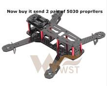 WST DIY drone FPV mini quadcopter frame kit Carbon fiber for H250 QAV250 (Unassembled)