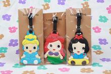Princess Ariel/Snow White/Belle/ Cinderella/Aurora/Jasmine luggage tags/  Travel Name Tag(China (Mainland))