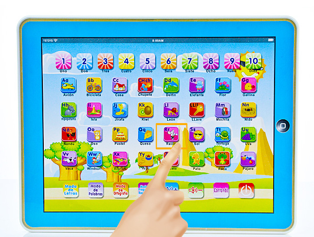Free shipping! Wholesale Spanish language Y-pad ypad children early learning machine Spain computer PC tablet for kids best gift(China (Mainland))