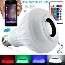 [DBF] Smart RGB Wireless Bluetooth Speaker Bulb Music Playing 12W E27 LED Bulb Light Lamp with Remote Control